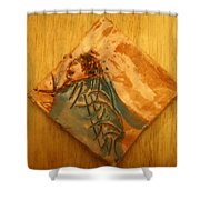 Follows Me - Tile  Shower Curtain