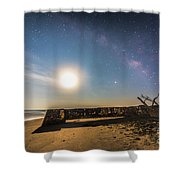 Folly Beach Milky Way Shower Curtain