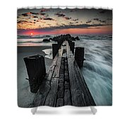 Folly Beach Tale Of Two Sides Shower Curtain