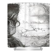 Fomorii Swamp Shower Curtain