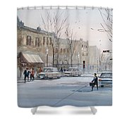 Fond du Lac - Downtown Shower Curtain by Ryan Radke