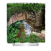 Fonferek Glen Rock Bridge And Falls Shower Curtain
