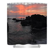 Fonsalia Red Shower Curtain