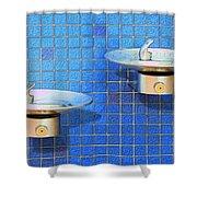 Fontaine Bleue Shower Curtain