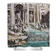 Fontana Di Trevi Rome Shower Curtain