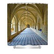 Fontevraud Abbey Cloister, Loire, France Shower Curtain