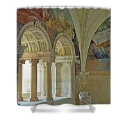 Fontevraud Abbey Refectory, Loire, France Shower Curtain