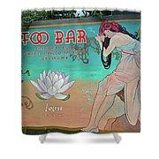Foo Bar Artwork Shower Curtain