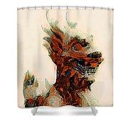 Foo Dog Shower Curtain