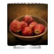 Food - Apples - A Bowl Of Apples  Shower Curtain