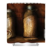 Food - Corn Yams And Oatmeal Shower Curtain