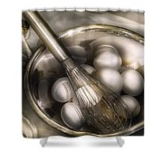 Food - Mix In The Eggs Shower Curtain
