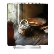 Food - Morning Eggs Shower Curtain