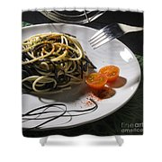 Food Shower Curtain by Agusti Pardo Rossello