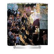 Food Alley At The Country Fair Shower Curtain