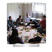 Food And Fellowship Shower Curtain