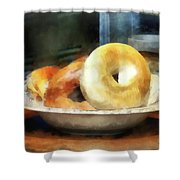 Food - Bagels For Sale Shower Curtain