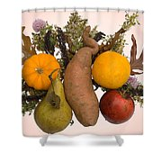 Food Bouquet Shower Curtain