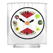 Food Clock Shower Curtain