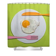 Food Concept With Paper Shower Curtain
