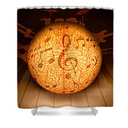 Food For Brain And Peace For Soul Shower Curtain