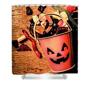 Food For The Little Halloween Spooks Shower Curtain