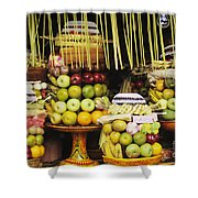 Food In Bali Shower Curtain