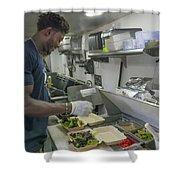 Food Truck Worker Shower Curtain