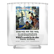 Food Will Win The War Shower Curtain