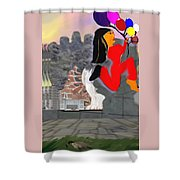 Foot Be Alone Shoe Shower Curtain