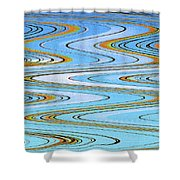Foot Bridge Abstract Shower Curtain