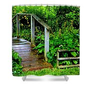 Foot Bridge And Fence Shower Curtain