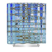 Foot Bridge Over Tempe Town Lake Abstract Shower Curtain