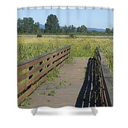 Foot Bridge Shower Curtain