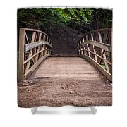 Foot Bridge Waiting Shower Curtain