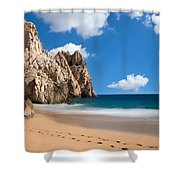 Foot Prints In Cabo Shower Curtain