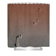 Foot Prints On The Beach Shower Curtain