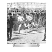 Foot Race, 1868 Shower Curtain