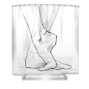 Foot Study Shower Curtain