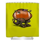 Football Beast Shower Curtain
