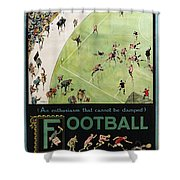 Football By The Underground Shower Curtain