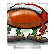 Football Christmas Shower Curtain by Kevin Middleton