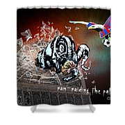 Football Derby Rams Against Crystal Palace Eagles Shower Curtain