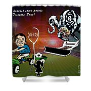 Football Derby Rams Against Ipswich Tractor Boys Shower Curtain