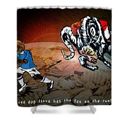 Football Derby Rams Against Leicester Foxes Shower Curtain