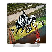 Football Derby Rams Against Nottingham Forest Red Dogs Shower Curtain