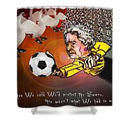 Football Derby Rams Against Swansea Swans Shower Curtain