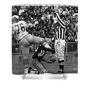 Football Game, 1965 Shower Curtain