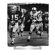 Football Game, 1966 Shower Curtain
