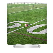 Football On The 50 Yard Line Shower Curtain
